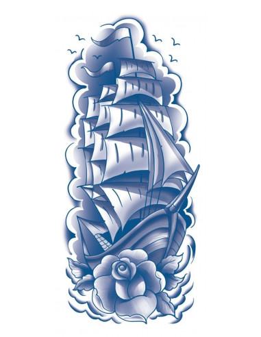 Modrá plachetnice - nalepovací...