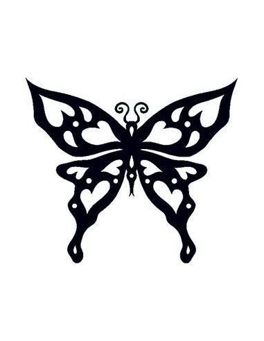 Motýl svítící ve tmě - tribal...