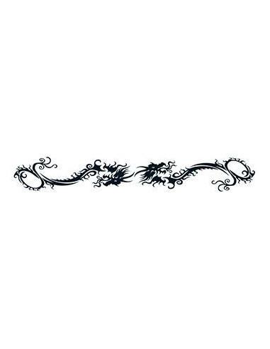 Náramek s draky - tribal nalepovací...