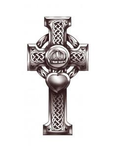 Černobílý keltský kříž -...