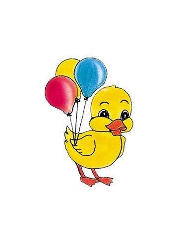 Kačenka s balónky- dětská tetovačka