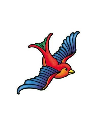 Barevná vlaštovka - nalepovací tetování