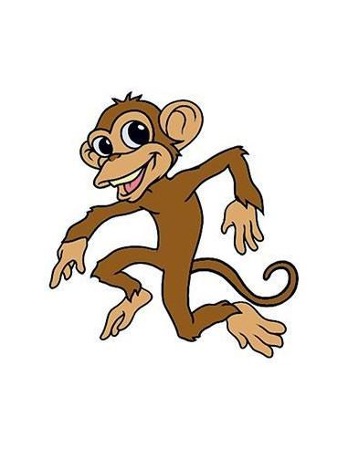 Tančící opice - nalepovací tetování