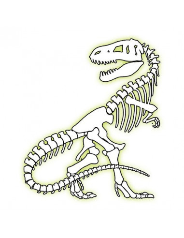 T-Rex svítící ve tmě - nalepovací...