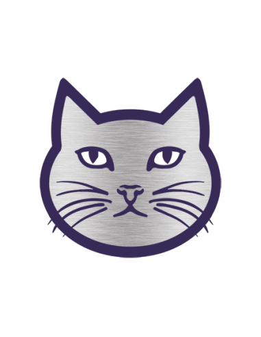 Chromovaná kočka - nalepovací tetování