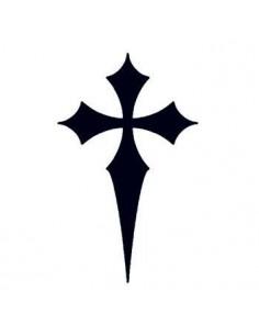 Špičatý černý kříž -...