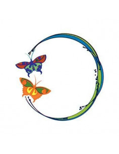 Kruh s motýly - nalepovací...