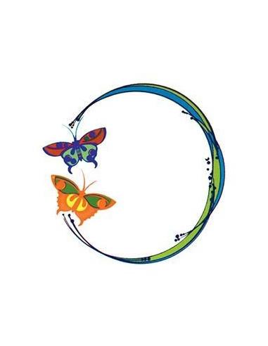 Kruh s motýly - nalepovací tetování