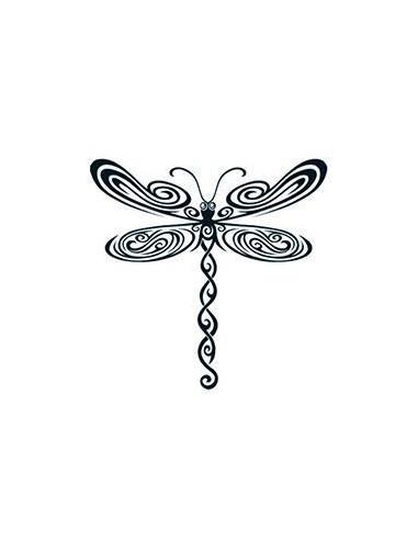 Vážka - tribal nalepovací tetování