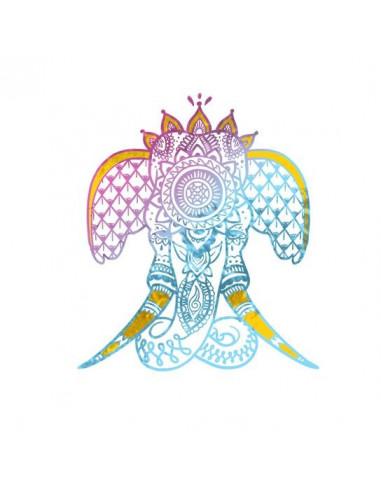 Metalický slon 2 - nalepovací tetování