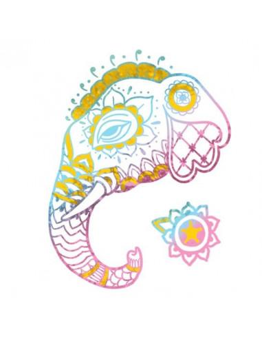 Metalický slon 1 - nalepovací tetování