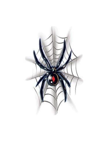 Černá vdova s pavučinou - nalepovací...