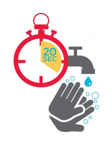 Symbol mytí rukou po dobu 20 sekund -...