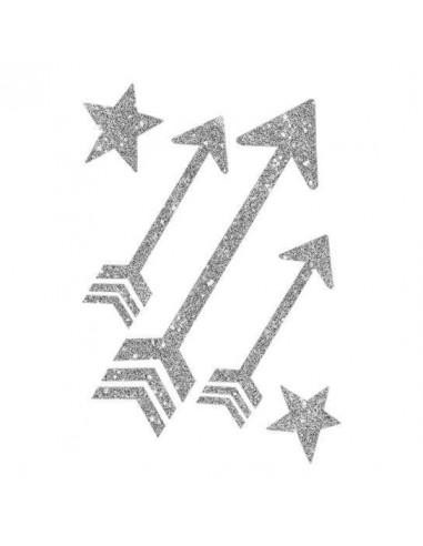 Třpytivé stříbrné šipky - nalepovací...