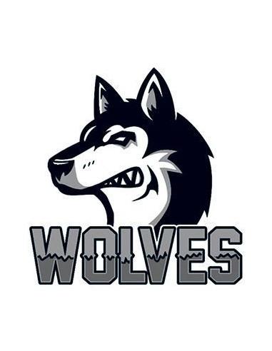 Vlk s nápisem Wolves - nalepovací...
