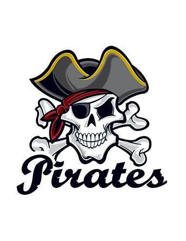 Pirátská lebka s nápisem Pirates -...