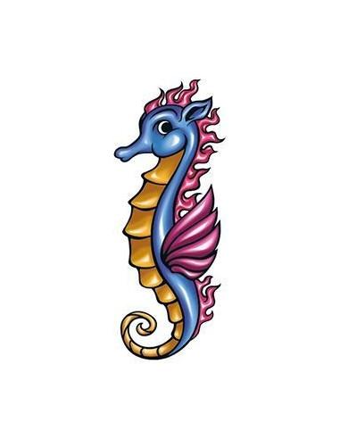 Mořský koník 2 - nalepovací tetování