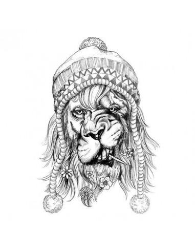 Malý černobílý hipster lev - dočasné...