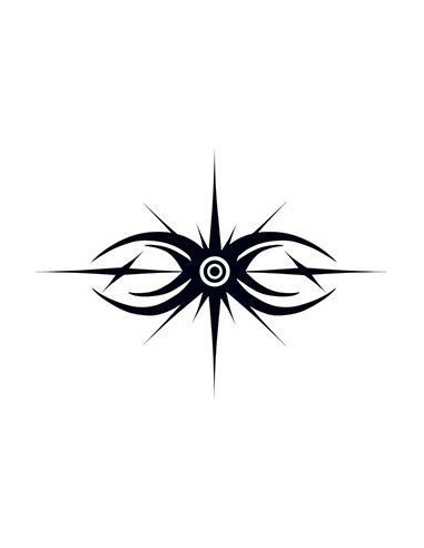 Paprsky - tribal dočasné tetování