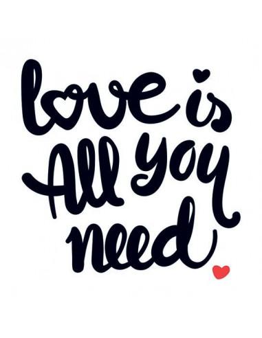 Love Is All You Need - dočasné tetování