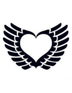 Srdce s křídly - tribal...
