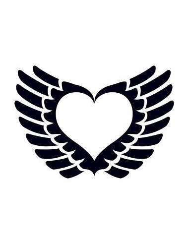 Srdce s křídly - tribal tetovačka...