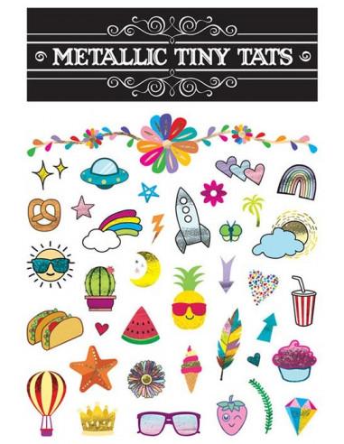 Sada barevných tetovaček - metalické...