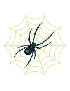 Pavouk s pavučinou svítící...