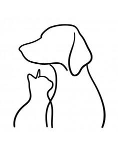 Silueta pes a kočka -...