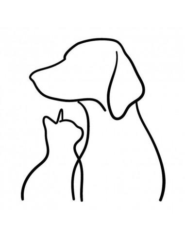 Silueta pes a kočka - dočasné tetování
