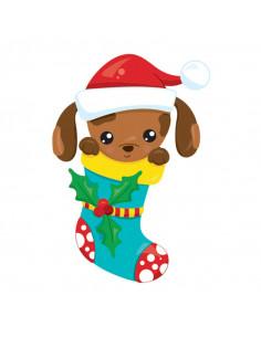 Pejsek v punčoše - vánoční...