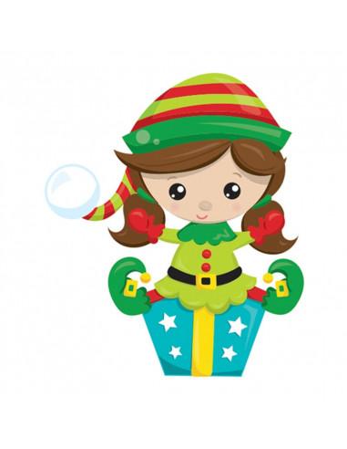 Holčička s dárečkem - vánoční...