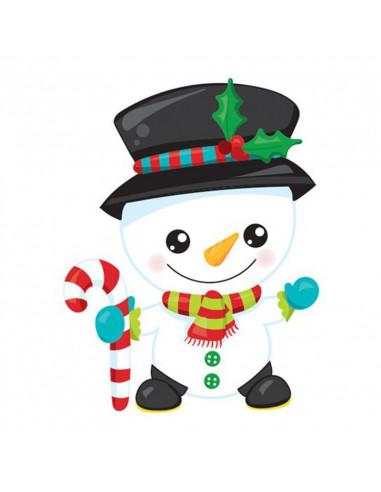 Sněhulák - vánoční tetovačka pro děti