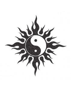 Třpytivý symbol Jin a Jang...