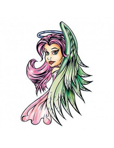 Anděl s růžovými vlasy - nalepovací...