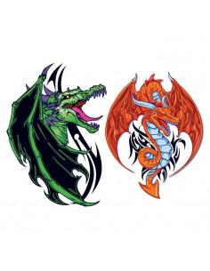 Zelený a oranžový drak -...