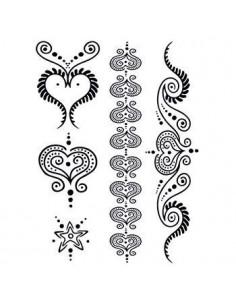Černá srdce - henna dočasné...