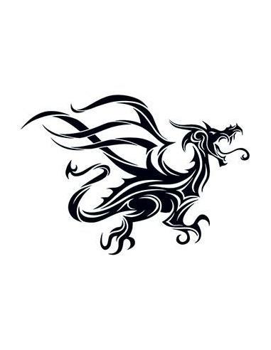Černý drak - tribal dočasné tetování