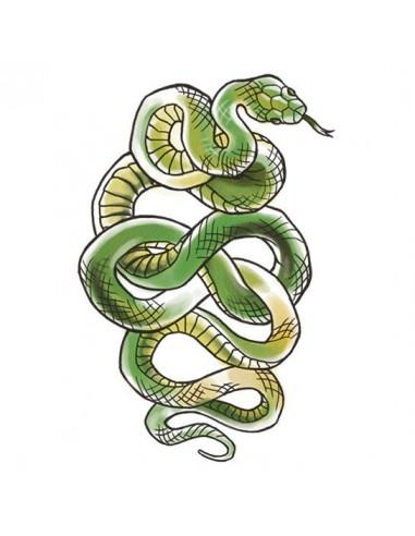 Zelený had - velké dočasné tetování