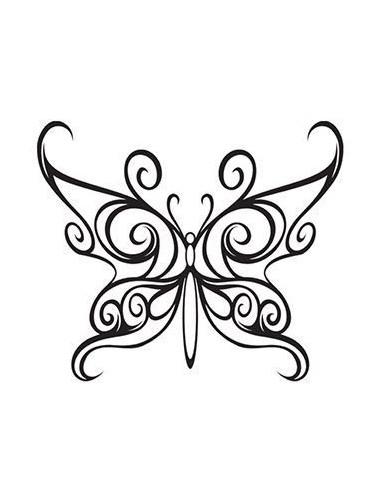Motýl - malé dočasné tetování