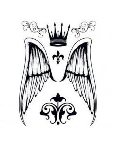 Andělská křídla, koruna a...