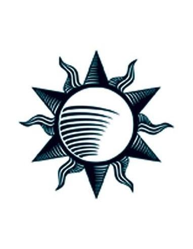 Slunce svítící ve tmě - tribal...