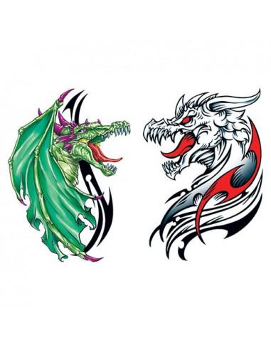 Dva draci - tetovačky svítící ve tmě