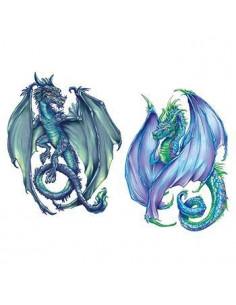 Zelený a modrý drak -...