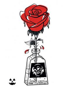 Otrávená růže - nalepovací...