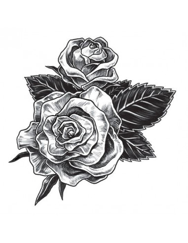 Dvě šedé růže - dočasné tetování