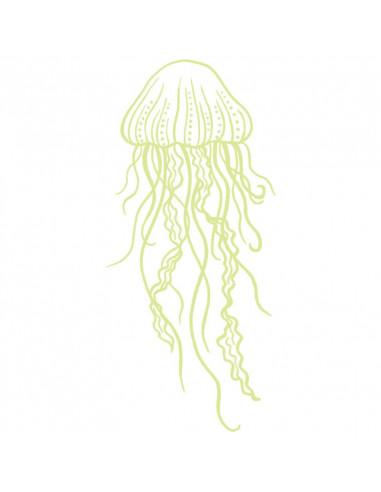 Medúza - bílé tetování svítící ve tmě