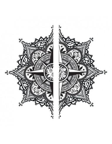 Mandala - nalepovací tetování pro dva