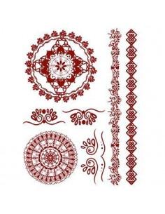 Červené mandaly - henna...