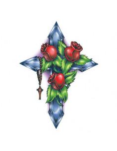 Růže na kříži - velké...